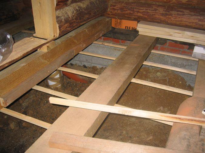 Деревянные полы на втором этаже своими руками